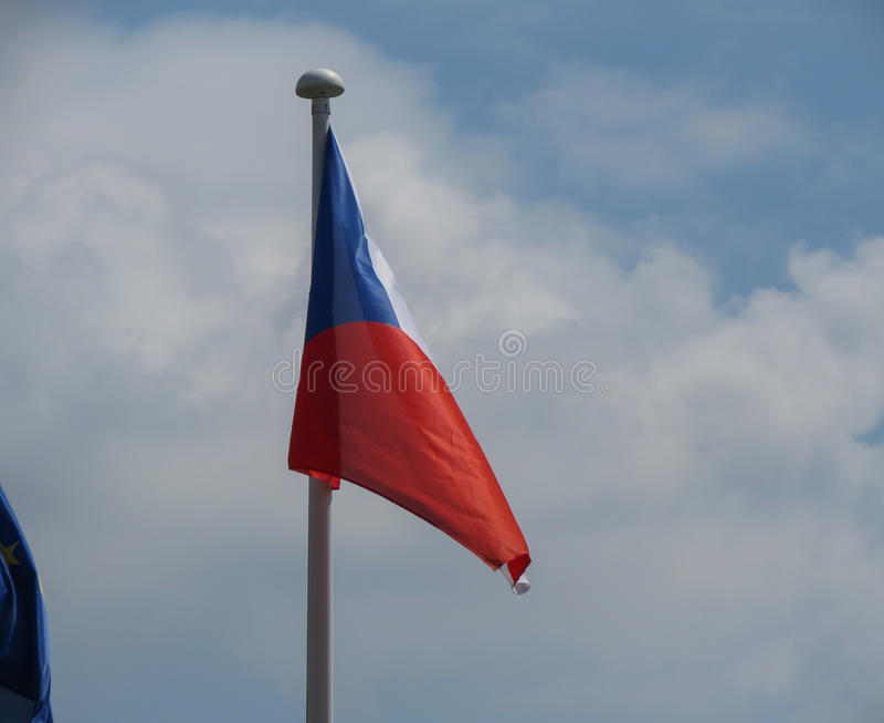 Czech flaga republika czech obraz stock