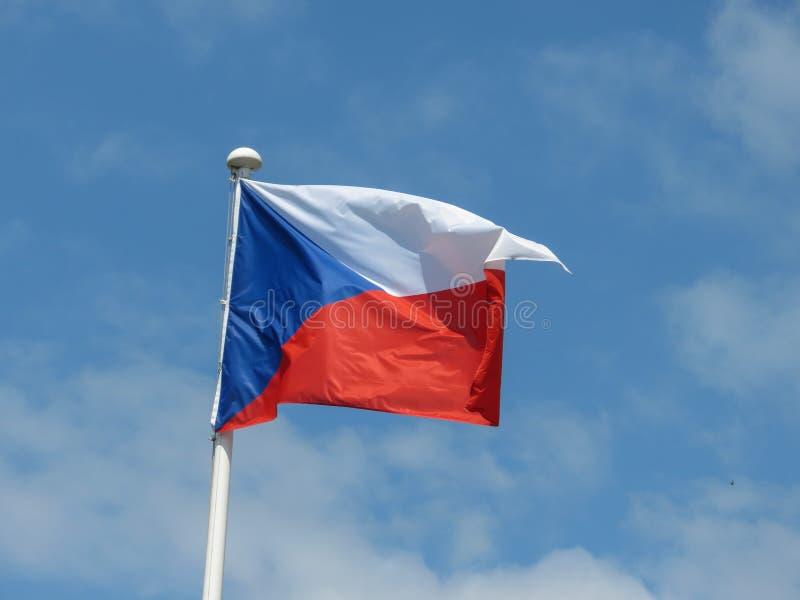 Czech flaga republika czech zdjęcia stock