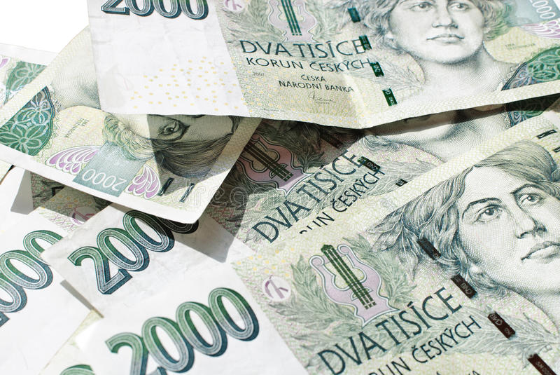 Czech Koruna 2 000 bill royalty free stock photography