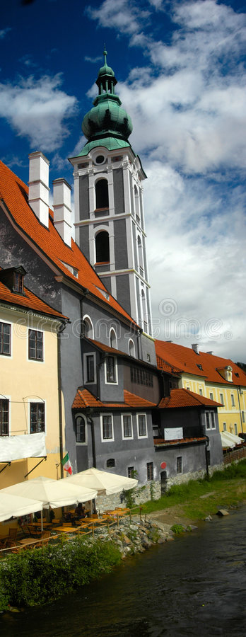 Czech Krumlov architecture royalty free stock images