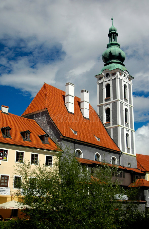 Czech Krumlov architecture stock photo