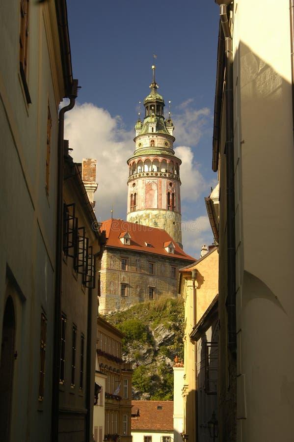 Czech Krumlov architecture stock image