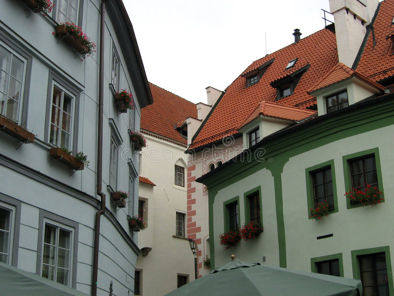 Czech Krumlov Town View royalty free stock photography