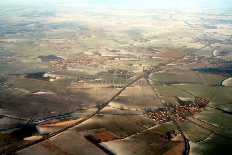 Czech landscape aerial stock photo