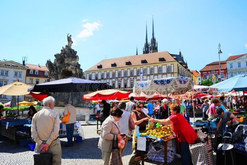 Czech market stock photography