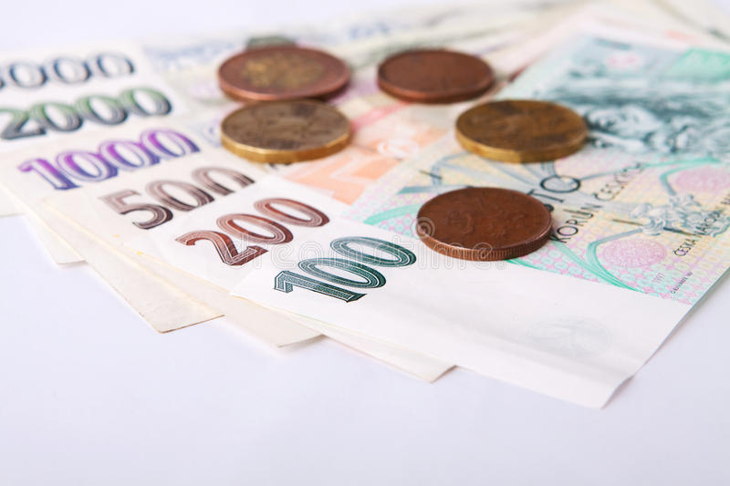 Download Czech money stock image. Image of economy, pile, background - 25577717