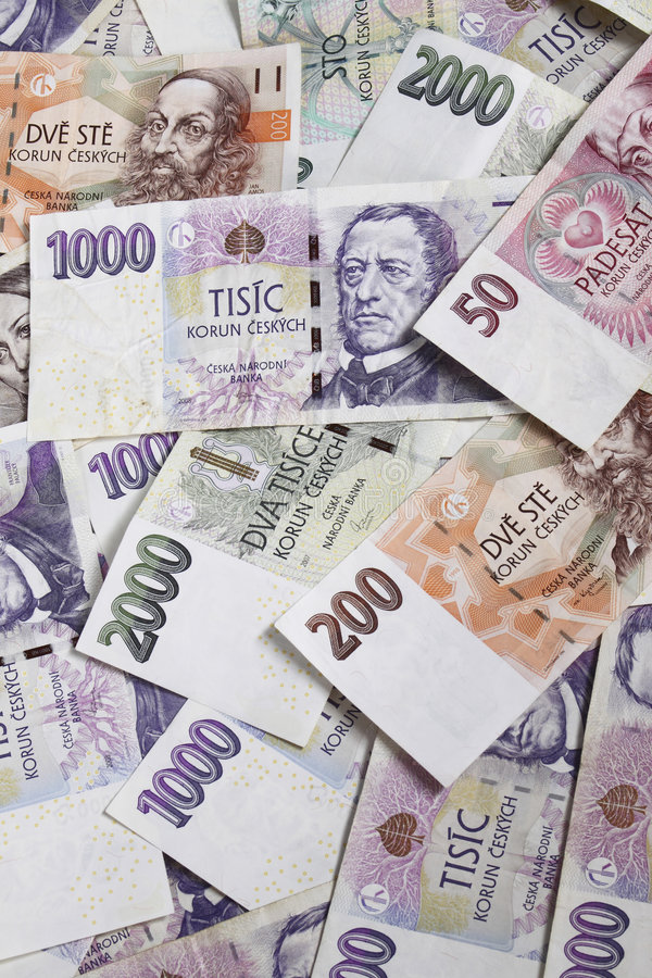 Czech money stock photography