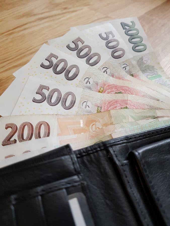 Czech money royalty free stock image