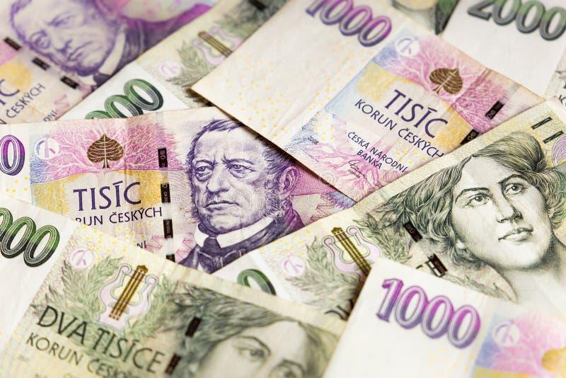 Czech money close-up. Wallpaper stock photography