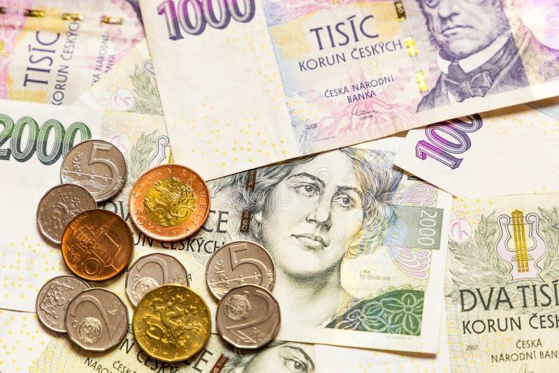 Czech money close-up. Wallpaper royalty free stock image
