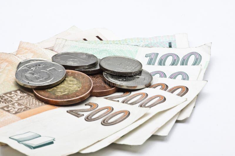 Czech money isolated royalty free stock image