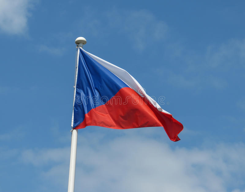 Download Czech Flag Of Republic Stock Image