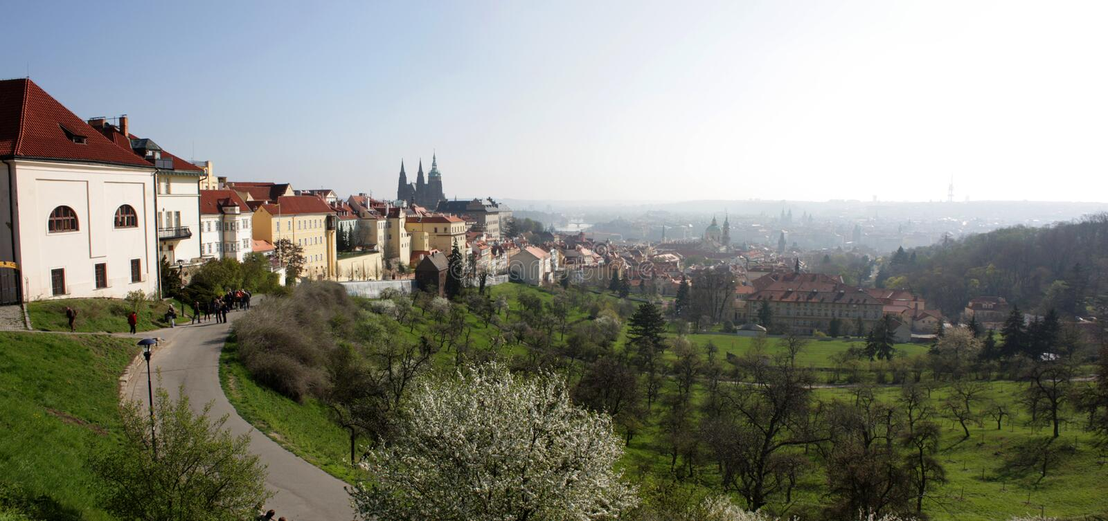 Czech old panoramic royalty free stock photo