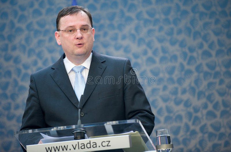 Download Czech Prime Minister Petr Nečas Editorial Stock Image - Image: 23302604