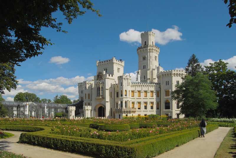 Czech republic, Castle Hluboka royalty free stock images