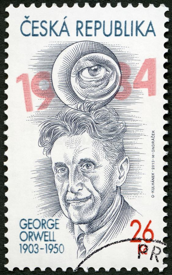CZECH REPUBLIC - 2013: shows Eric Arthur Blair George Orwell 1903-1950 royalty free stock photo