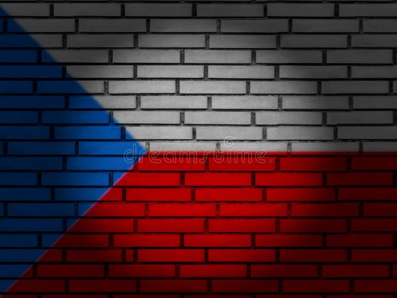 Czech Republic flag brick wall royalty free stock photography