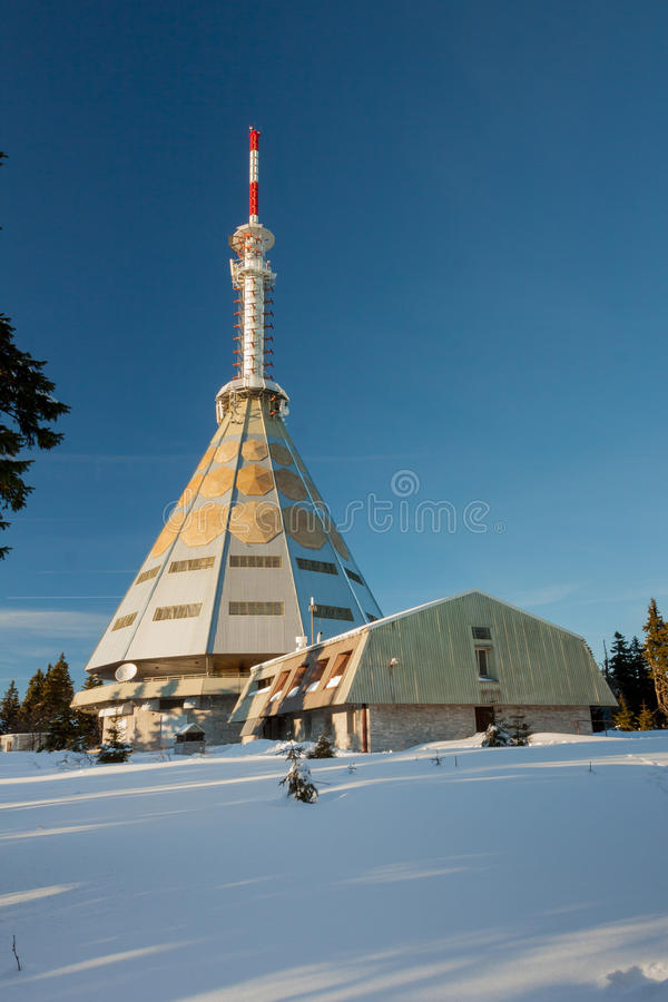 Czech Republic - Janske lazne - Cerna hora. Czech Republic - Janske lazne - transmitter Cerna hora stock photos