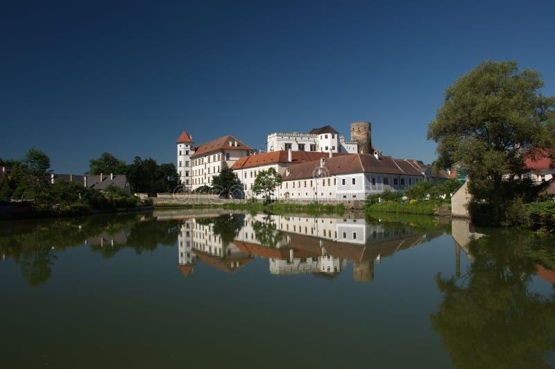 Czech republic, Jindrichuv Hradec, castle. View on castle in Jindrichuv Hradec stock photos