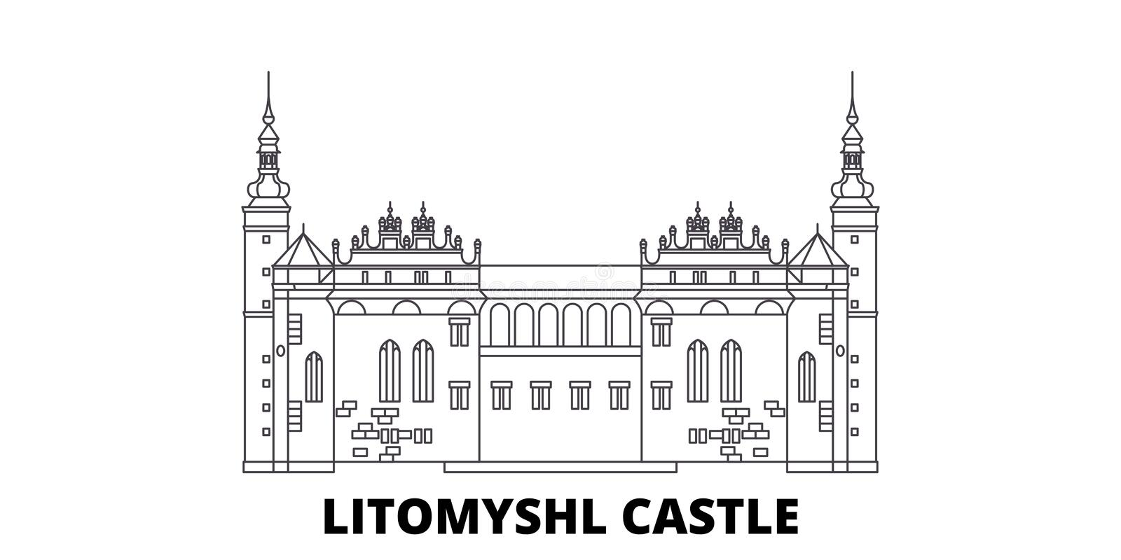 Czech Republic, Litomysl Castle line travel skyline set. Czech Republic, Litomysl Castle outline city vector royalty free illustration