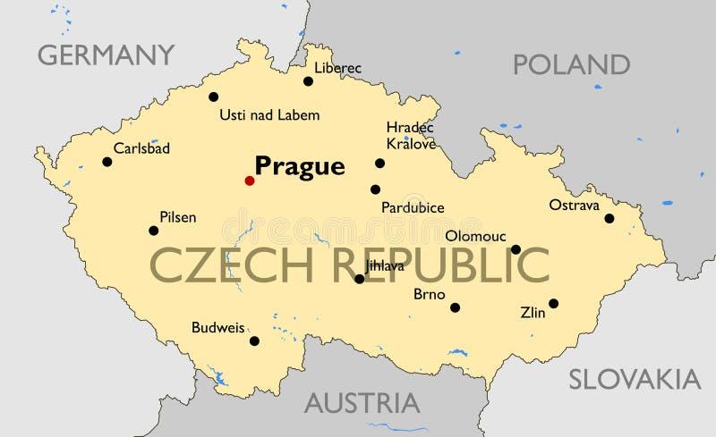 Czech Republic map stock vector Illustration of kralove 52755654