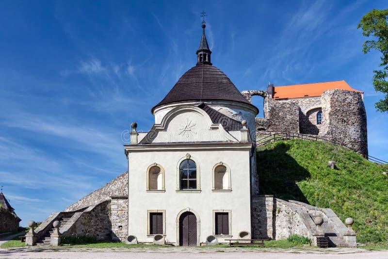 Czech Republic - church on stronghold Potstejn stock photo