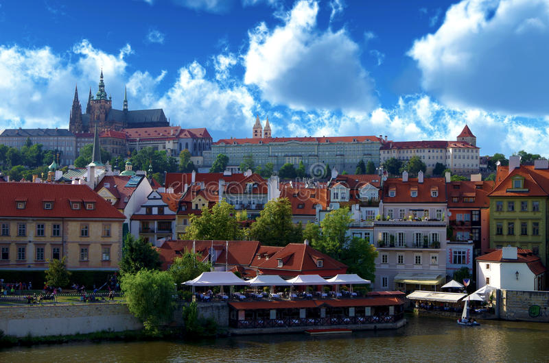 Czech Republic. Prague. Prague captivates with its peace and the old Gothic architecture royalty free stock photos