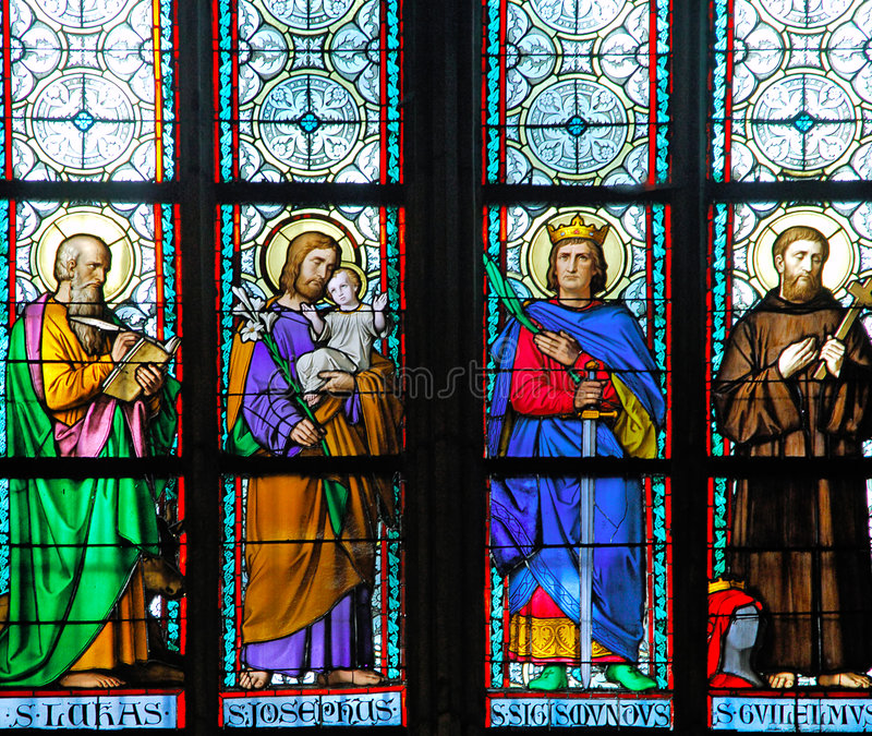 Download Czech Republic, Prague: Stained Glass Stock Photo - Image: 4067810