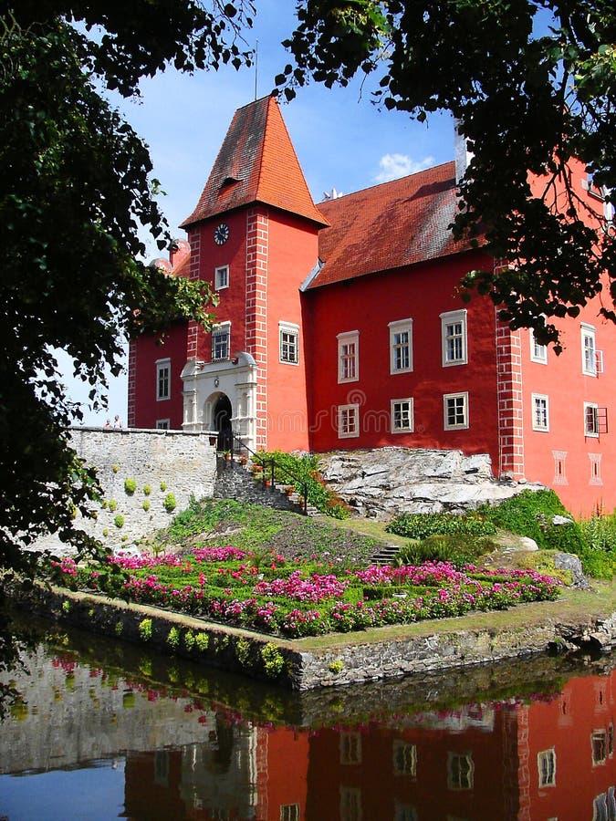 Czech republic, Red Castle royalty free stock photo