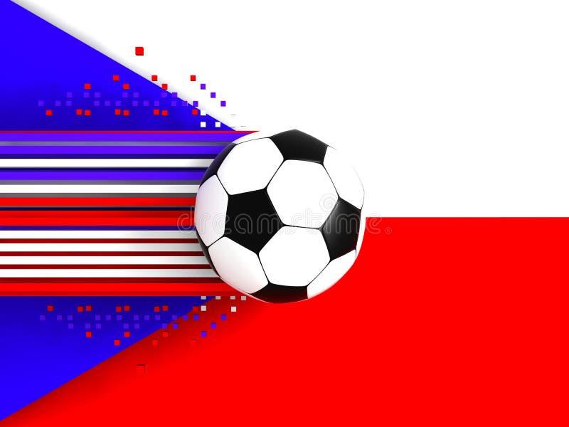 Download Czech Republic soccer flag stock illustration. Image of colours - 4617489