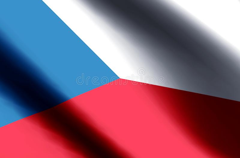 Czech Republic. Stylish waving and closeup flag illustration. Perfect for background or texture purposes royalty free stock images