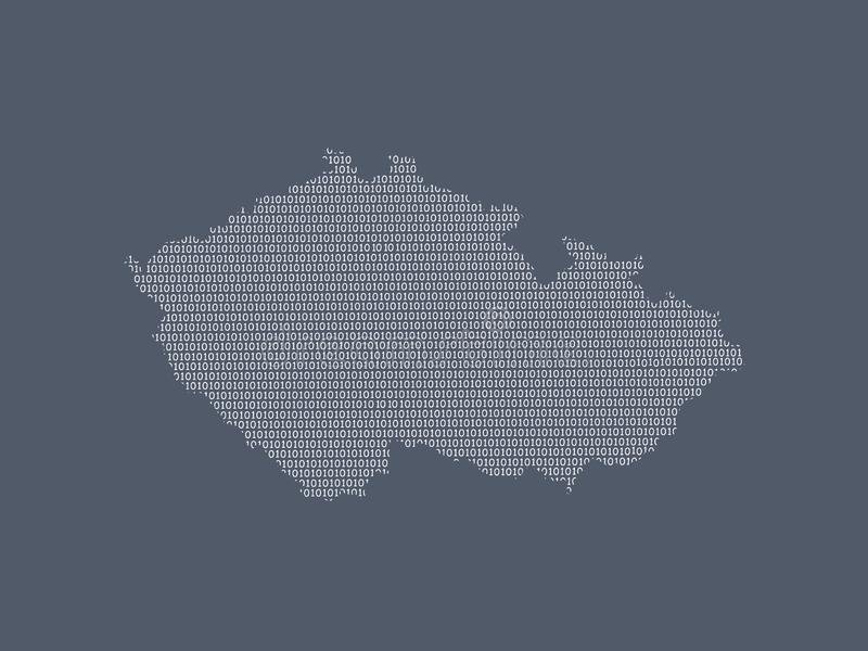 Czech Republic vector map using white binary digits on dark background to mean digital country and the advancement of technology vector illustration
