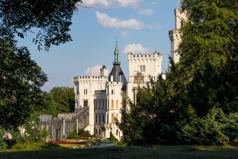 Czech Republic - white castle Hluboka nad Vltavou. Beautiful white renaissance castle castle Hluboka nad Vltavou in the Czech Republic stock photography
