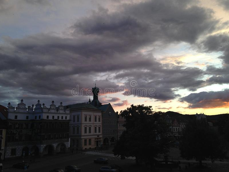 Czech republik sunset royalty free stock images