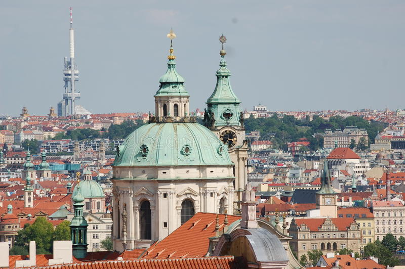 Czech skyline royalty free stock images