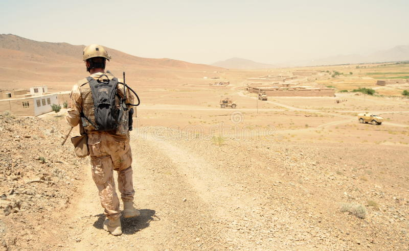 Czech Soldier in Logar Province, Afghanistan royalty free stock photo