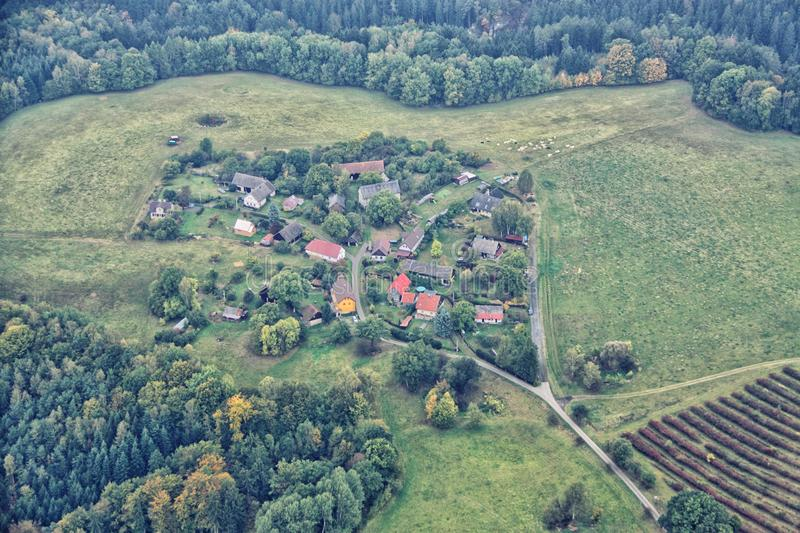 Czech village between forests royalty free stock photography
