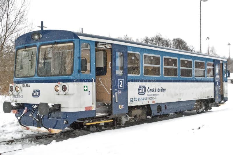 Czechoslovak diesel multiple unit serie 810 stock photos
