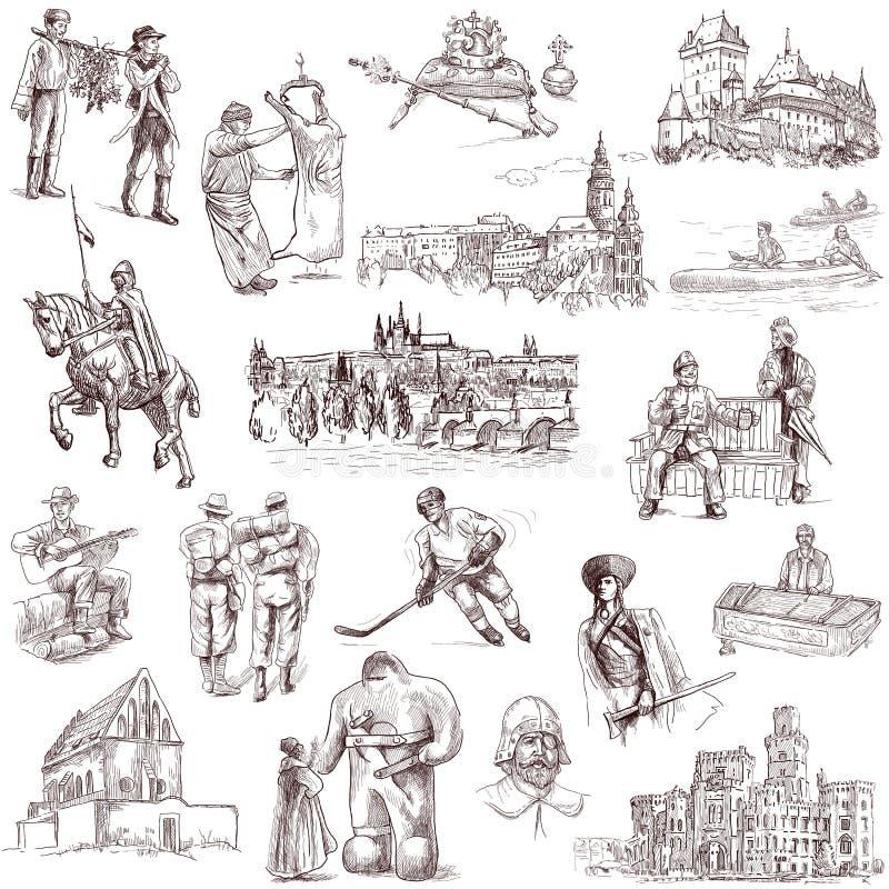 Czechoslovakia ilustracji