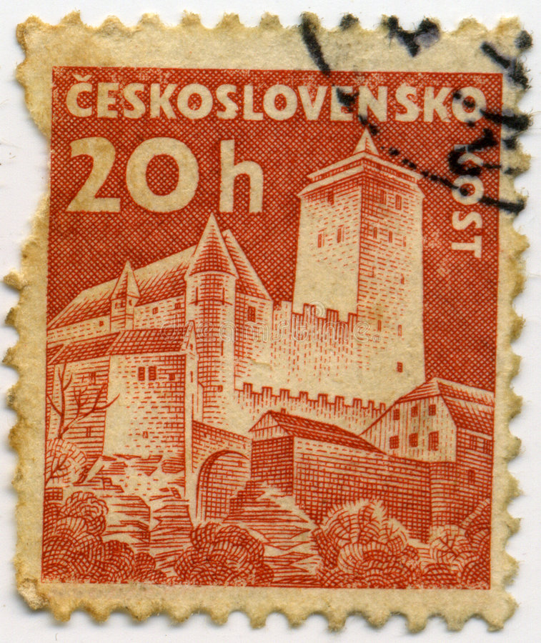 Czechoslovakia stamp. Vintage postage stamp from Czechoslovakia royalty free stock photos