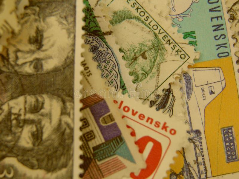 Czechoslovakian stämpel royaltyfria bilder