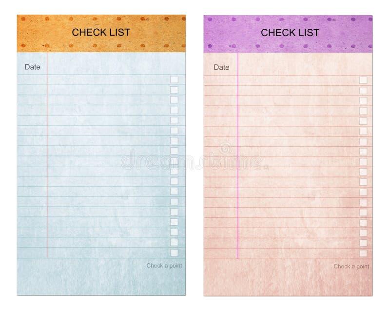 czek formy listy notatki stary ochraniacza papier kleisty obrazy stock
