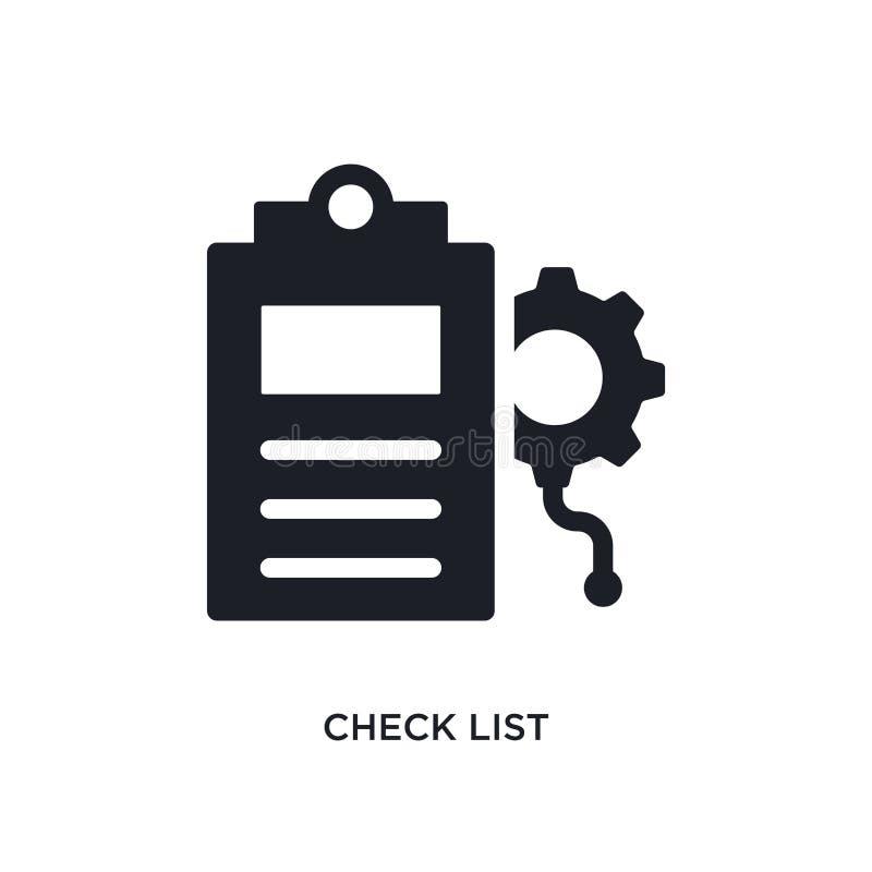 czek listy odosobniona ikona prosta element ilustracja od sztucznej inteligencji pojęcia ikon czek listy logo editable znak ilustracji