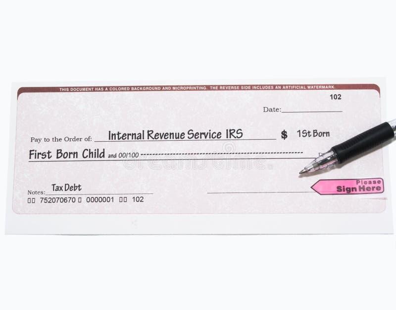 czek urodzony dziecko pierwszy irs zdjęcie royalty free