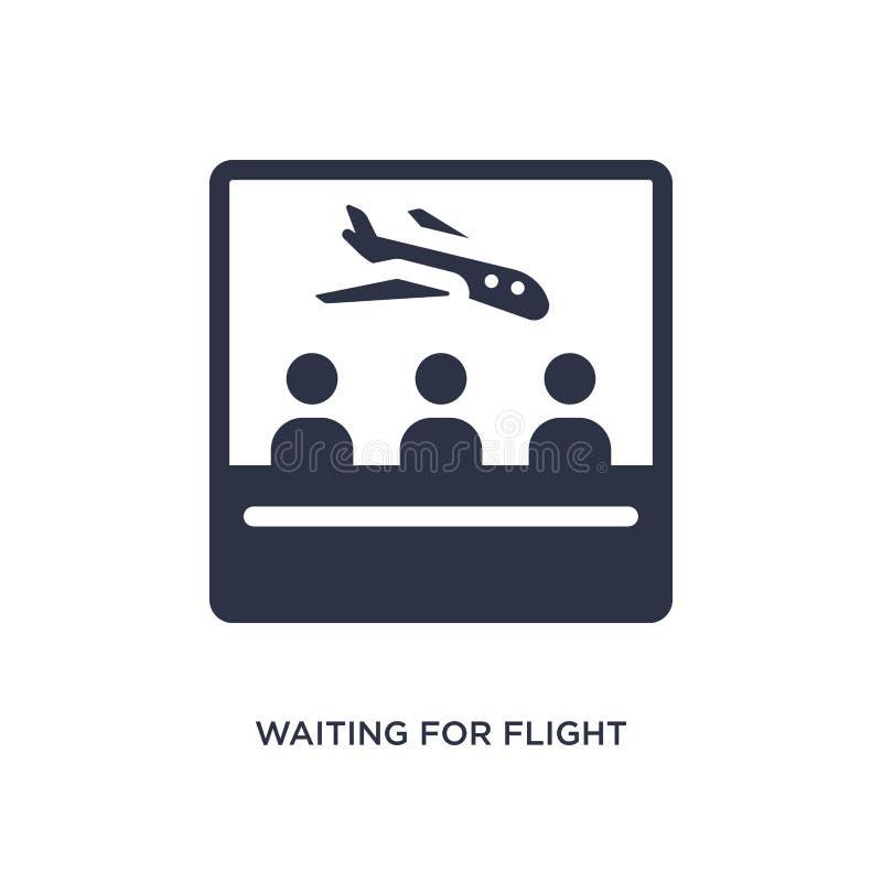 czekać na lot ikonę na białym tle Prosta element ilustracja od lotniskowego śmiertelnie pojęcia royalty ilustracja