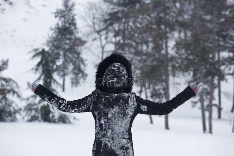 Czekać pierwszy śnieg zdjęcia stock