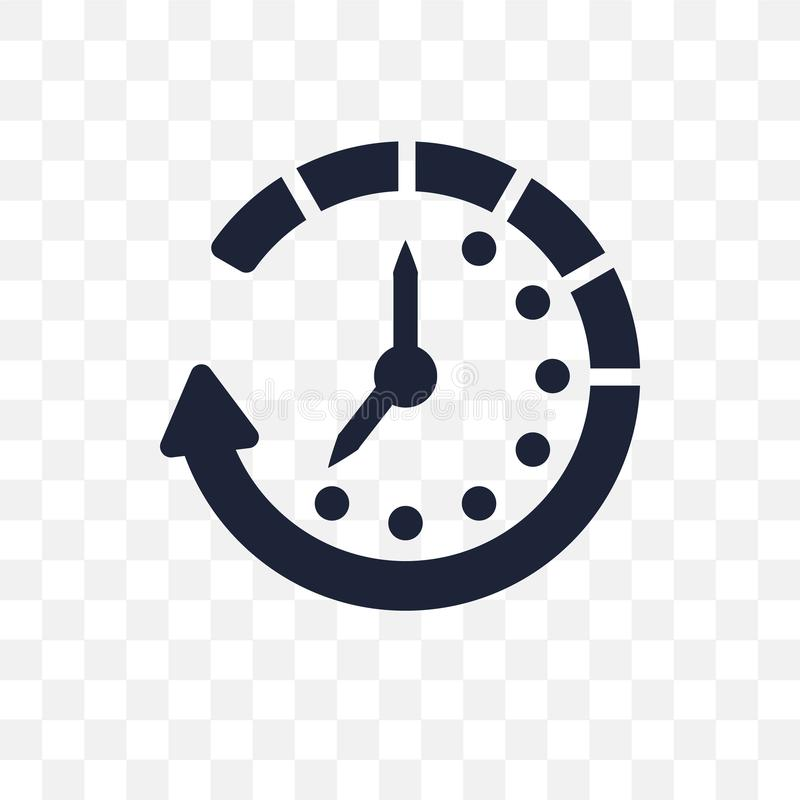 Czekać przejrzystą ikonę Czekanie symbolu projekt od czasu kieruje ilustracji