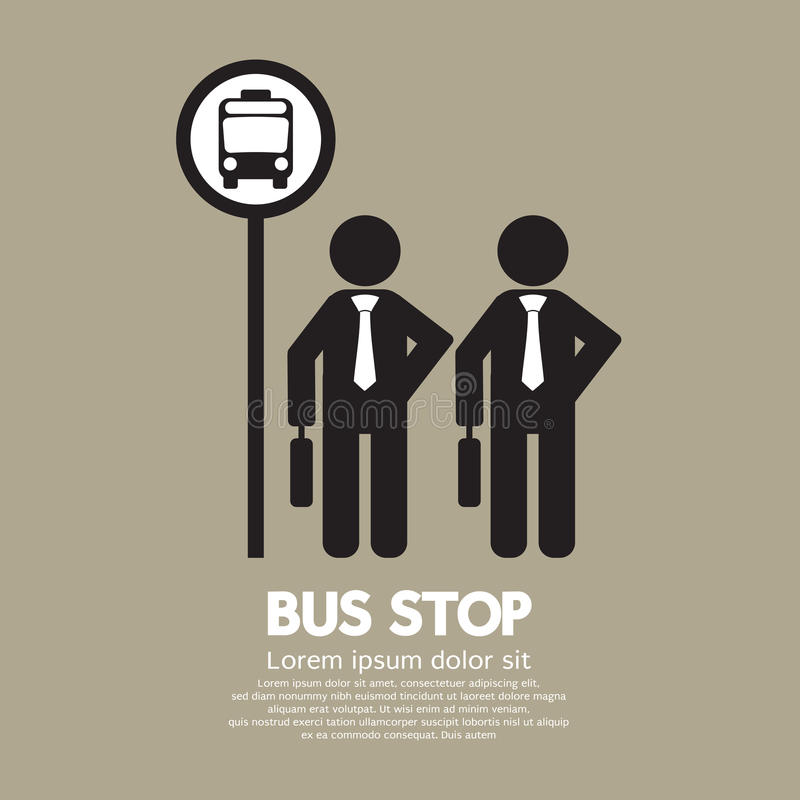 Czekać przy Autobusową przerwą royalty ilustracja