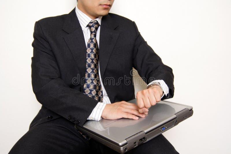 czekaj biznesmena zdjęcia stock