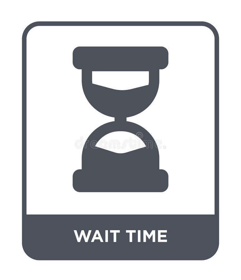 czekanie czasu ikona w modnym projekta stylu czekanie czasu ikona odizolowywająca na białym tle czekanie czasu wektorowej ikony p royalty ilustracja